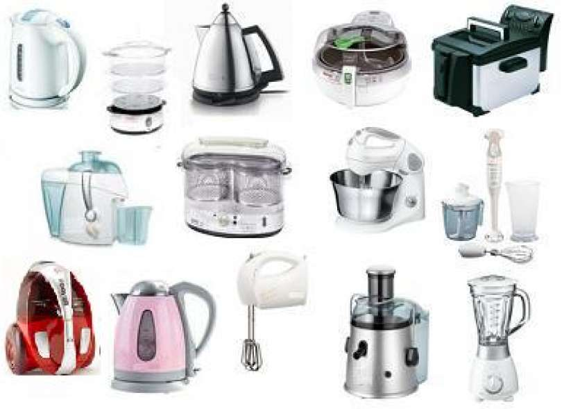 All the small electrical appliances and much more
