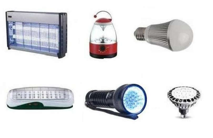 Flash lights, torches, insect killing devices